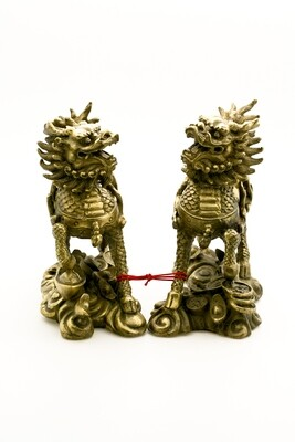 Brass Chi Lin Pair (Large)