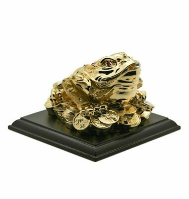 Gold Plated 3-Legged Money Toad