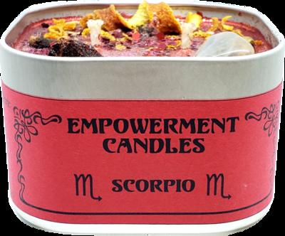 Scorpio Zodiac Empowerment Candle