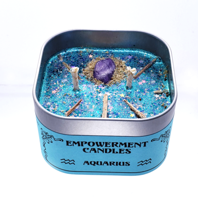 Aquarius Zodiac Empowerment Candle