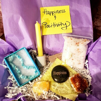 Happiness and Positivity Crystal Care Package