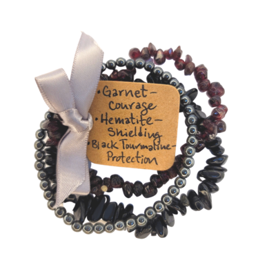Triple Bracelet Set - Courage & Protection