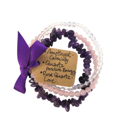 Triple Bracelet Set - Peace & Love