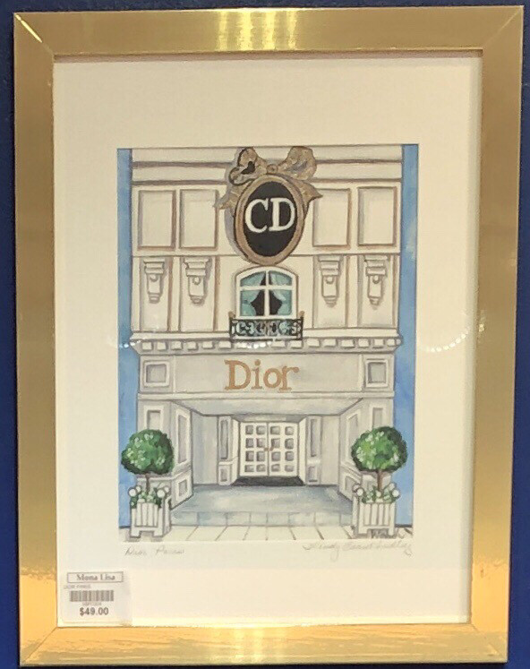 Christian Dior Paris Store Front Framed Print