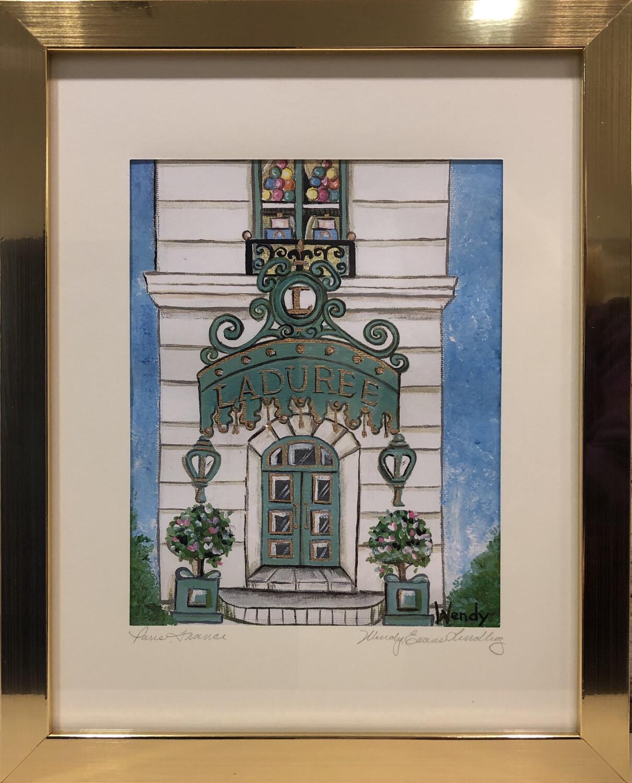 Laduree Paris Store Front Framed Print