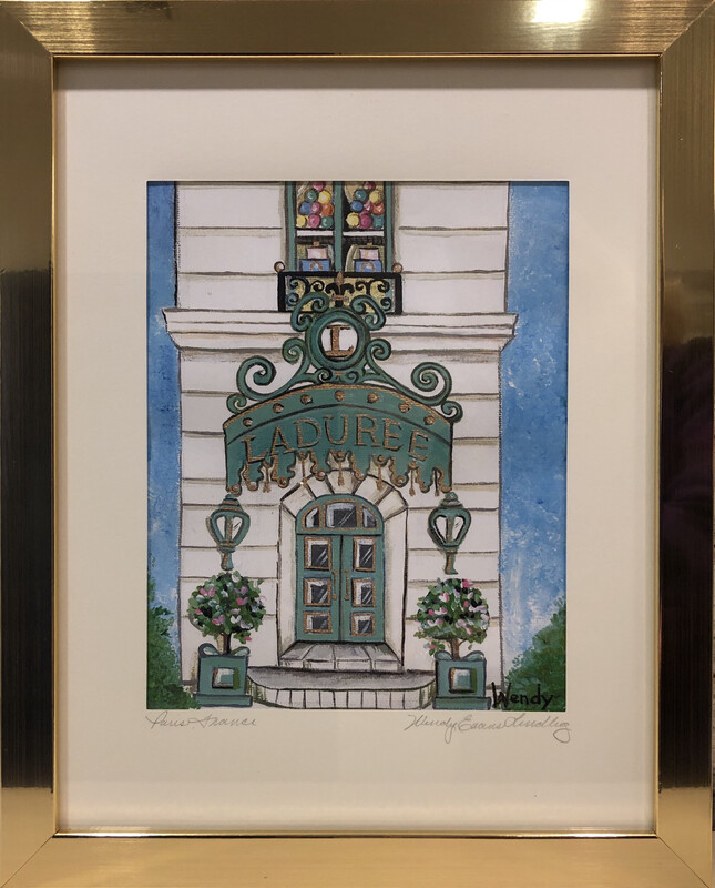 Laduree Paris Store Front Framed Print