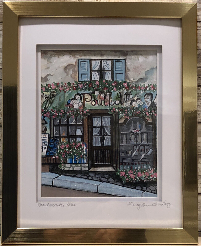 Restaurant Le Poulbot Paris Framed Print