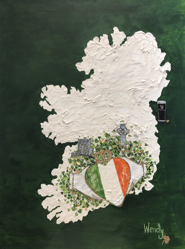 My Heart Is In Ireland 3-D Original Painting