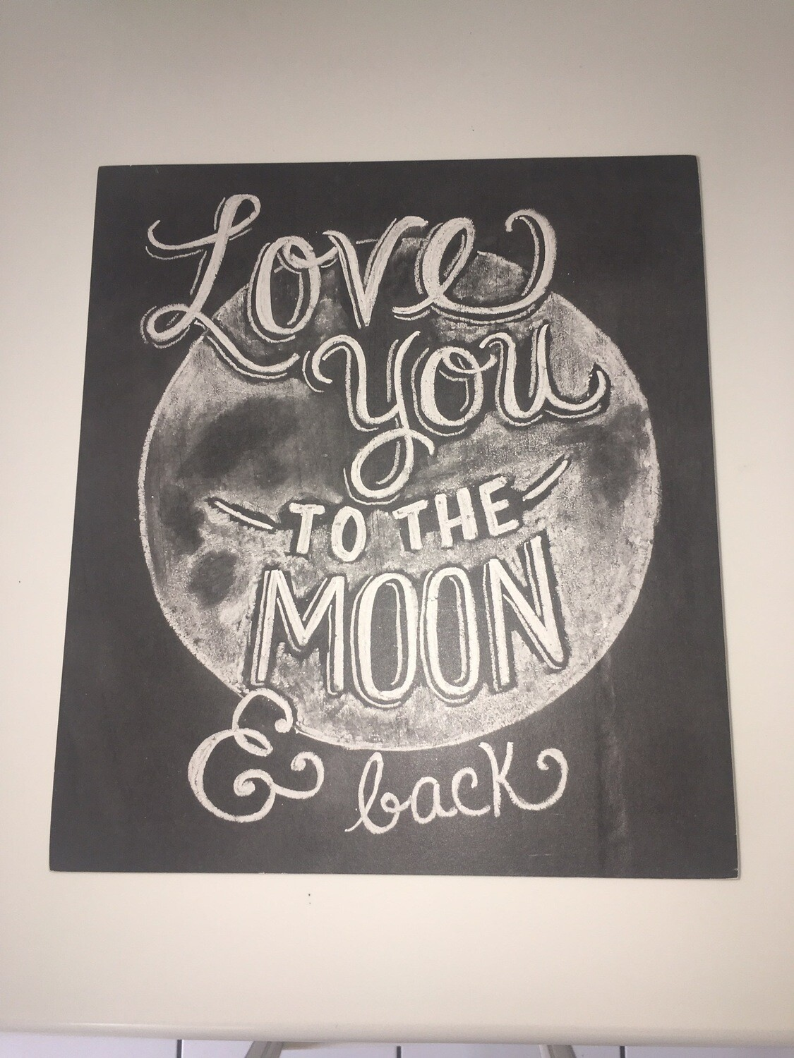 Love You To The Moon & Back Wood Picture