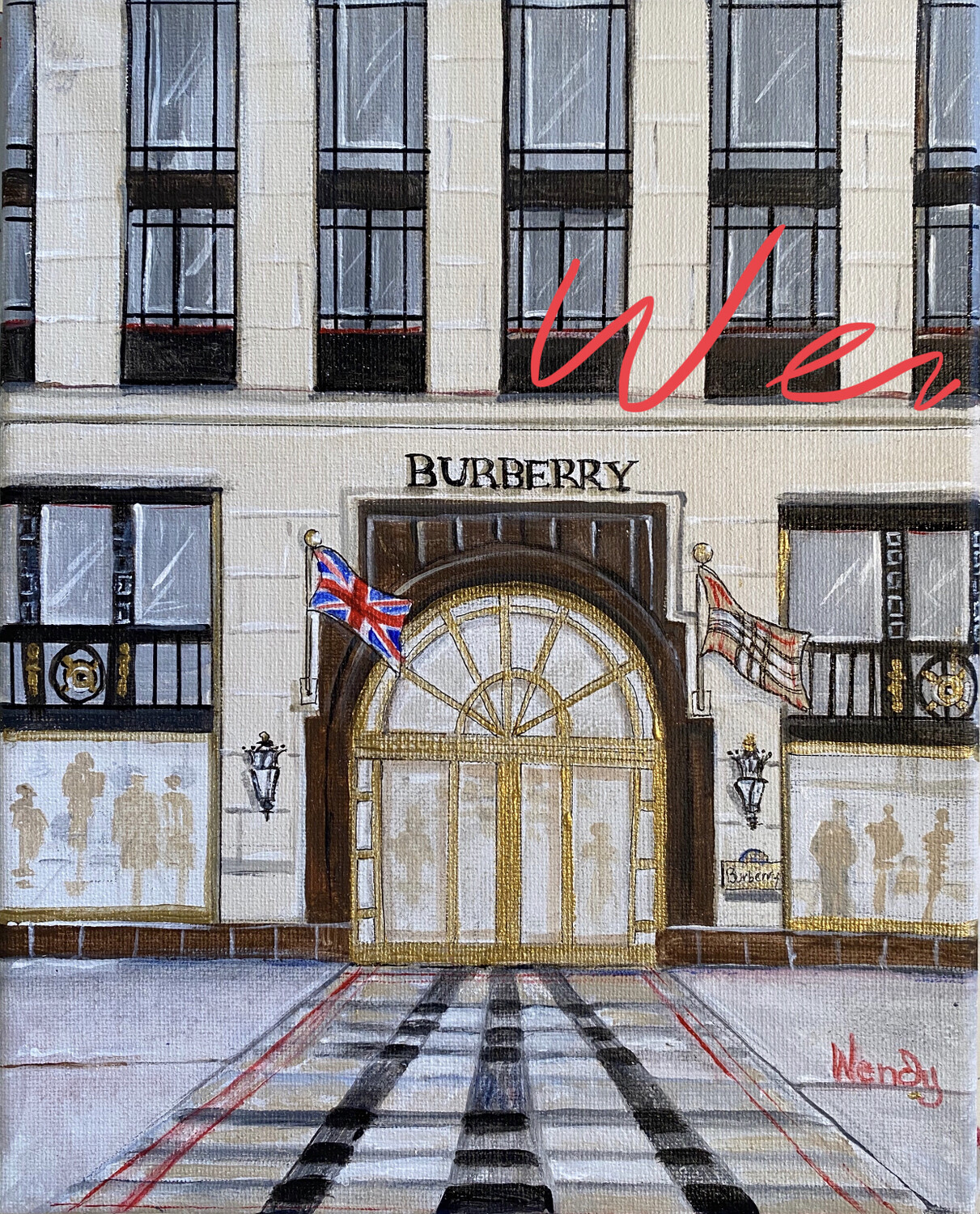 Burberry Bond Street London Framed Print