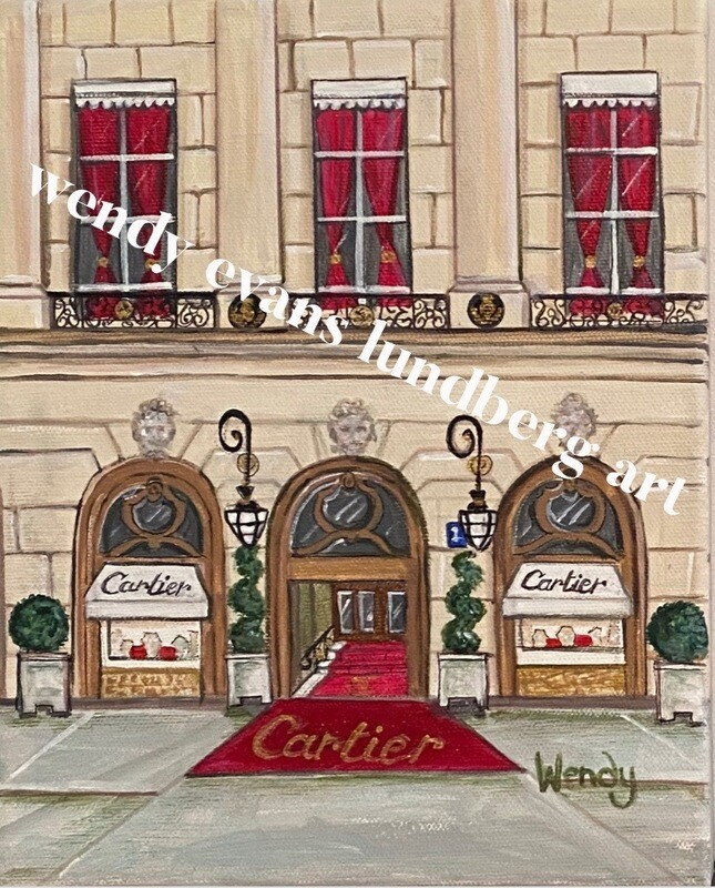 Cartier Paris Framed Print