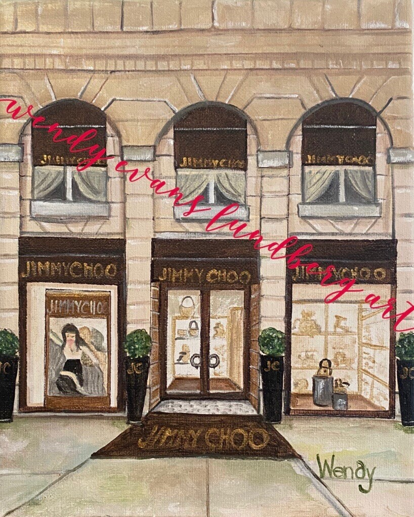 Jimmy Choo Paris Framed Print