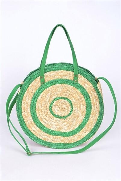 Spiral Straw Zip Top Bag