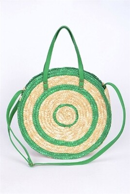 Spiral Straw Zip Top Bag
