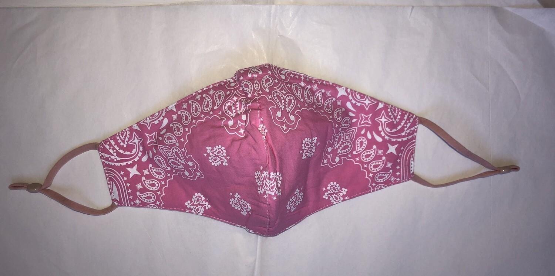 Pink Bandana Print Face Mask