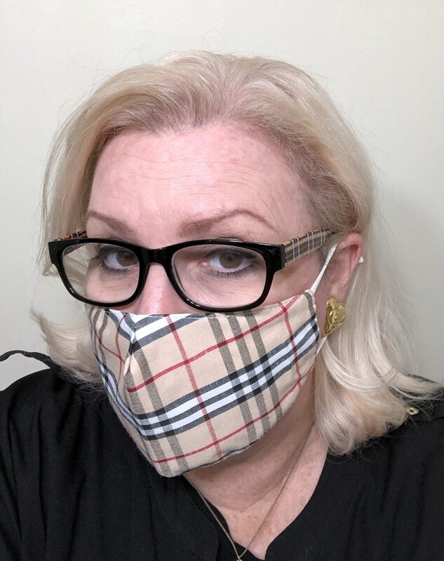 Brit Plaid Face Mask