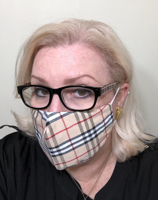 Brit Plaid Face Mask