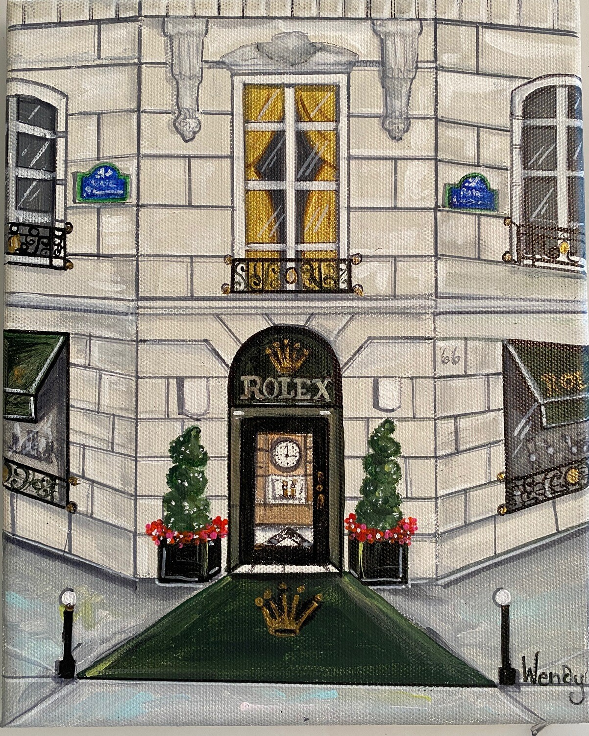 Boutique Rolex, 9 Place Vendome, Paris Framed Print