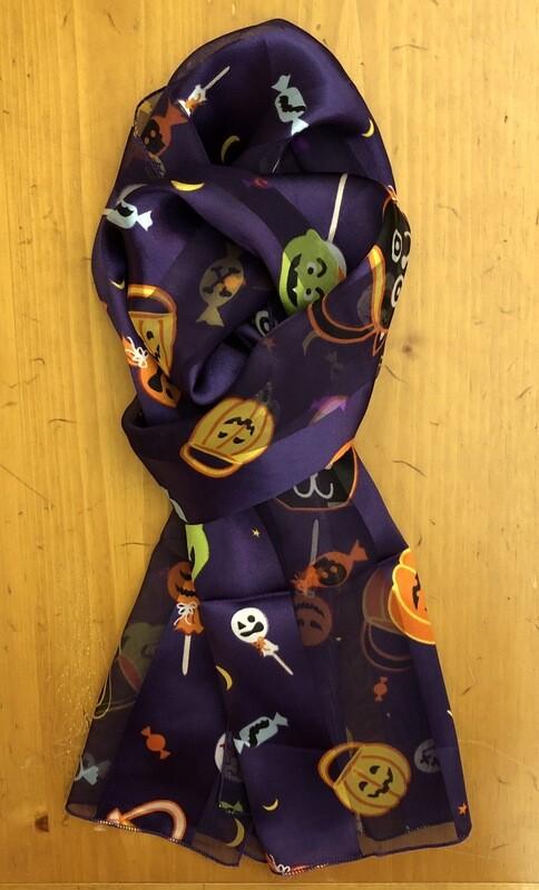Halloween Candy Scarf Purple