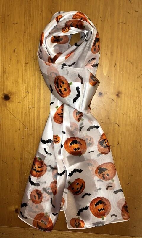 Halloween Pumpkins Scarf White
