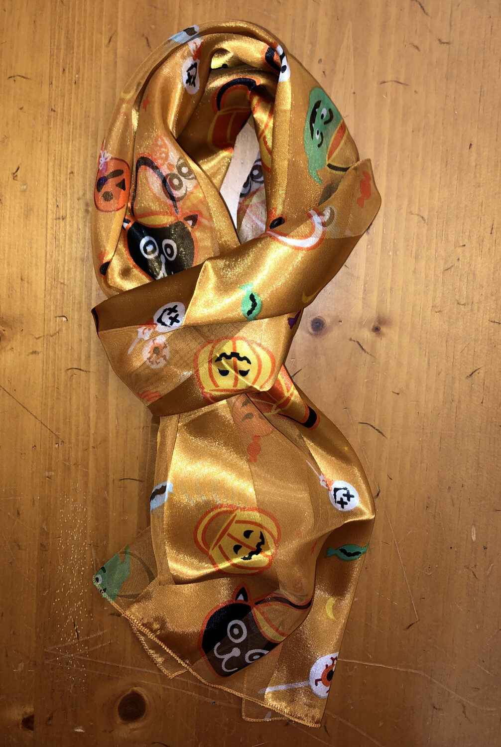 Halloween Candy Scarf Gold