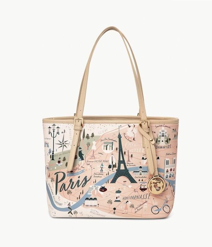 Paris Print Small Tote Bag By Spartina