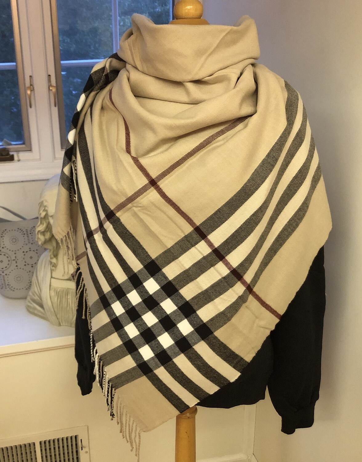 Brit Plaid Blanket Scarf Square