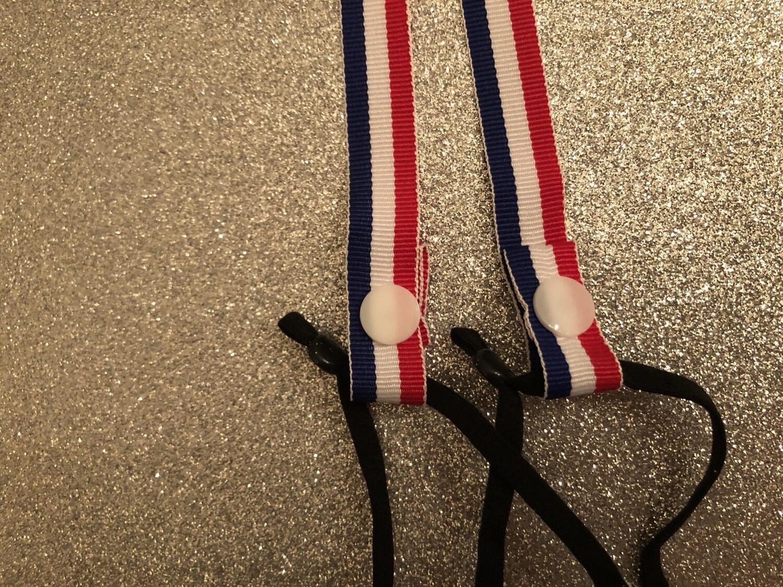 Red White Blue Ribbon Mask Holder