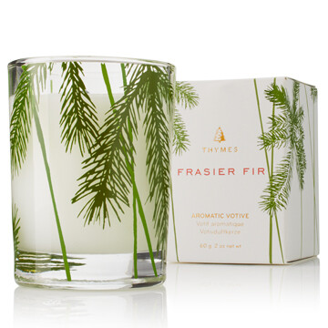 Frasier Fir Pine Needle Votive Candle Thymes