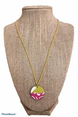 Clay Circle Pendant Necklace