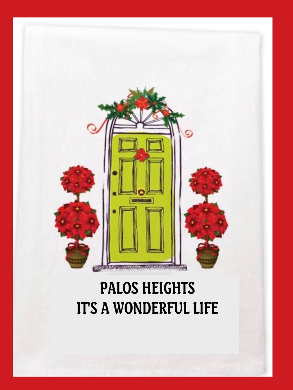 Palos Heights Christmas Dish Towel