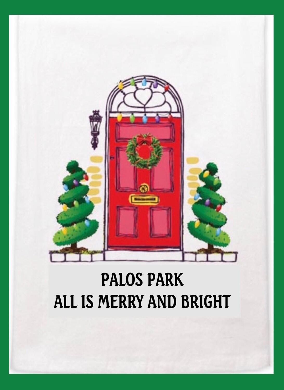 Palos Park Christmas Dish Towel