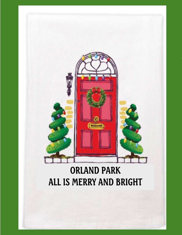 Orland Park Christmas Dish Towel