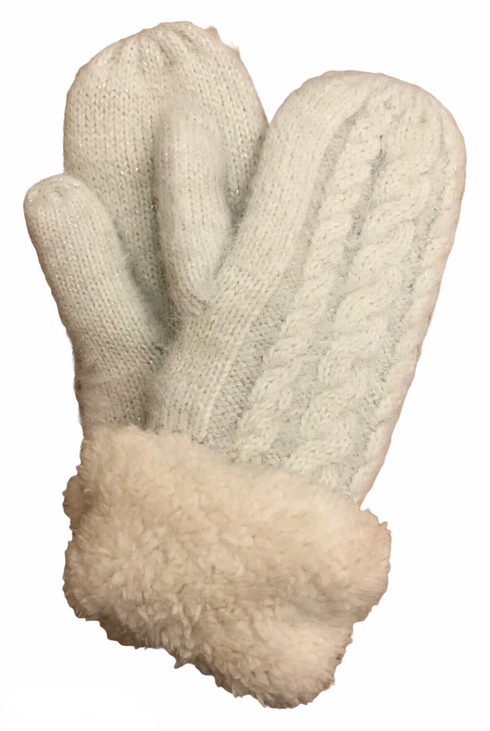 Double Thick Mittens Ivory