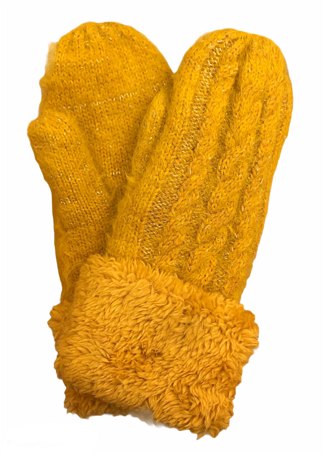 Double Thick Mittens Mustard