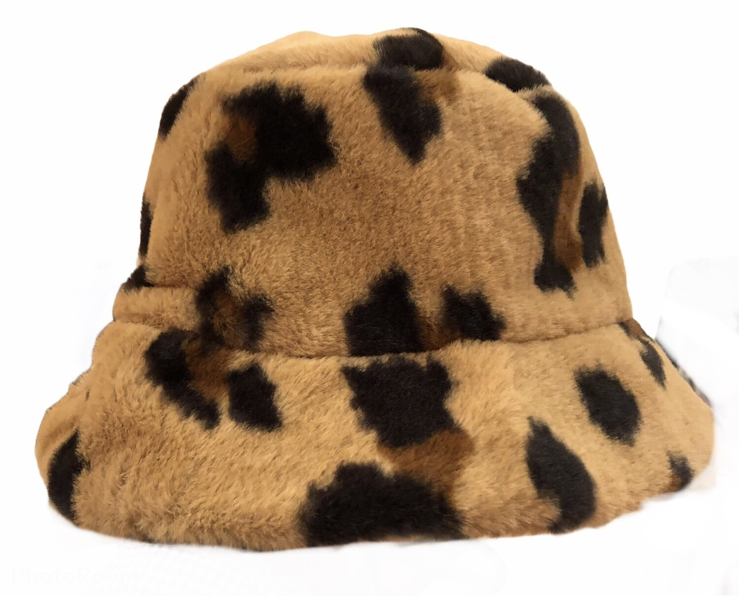 Leopard Faux Fur Tan Hat