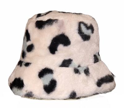 Leopard Faux Fur Pink Hat