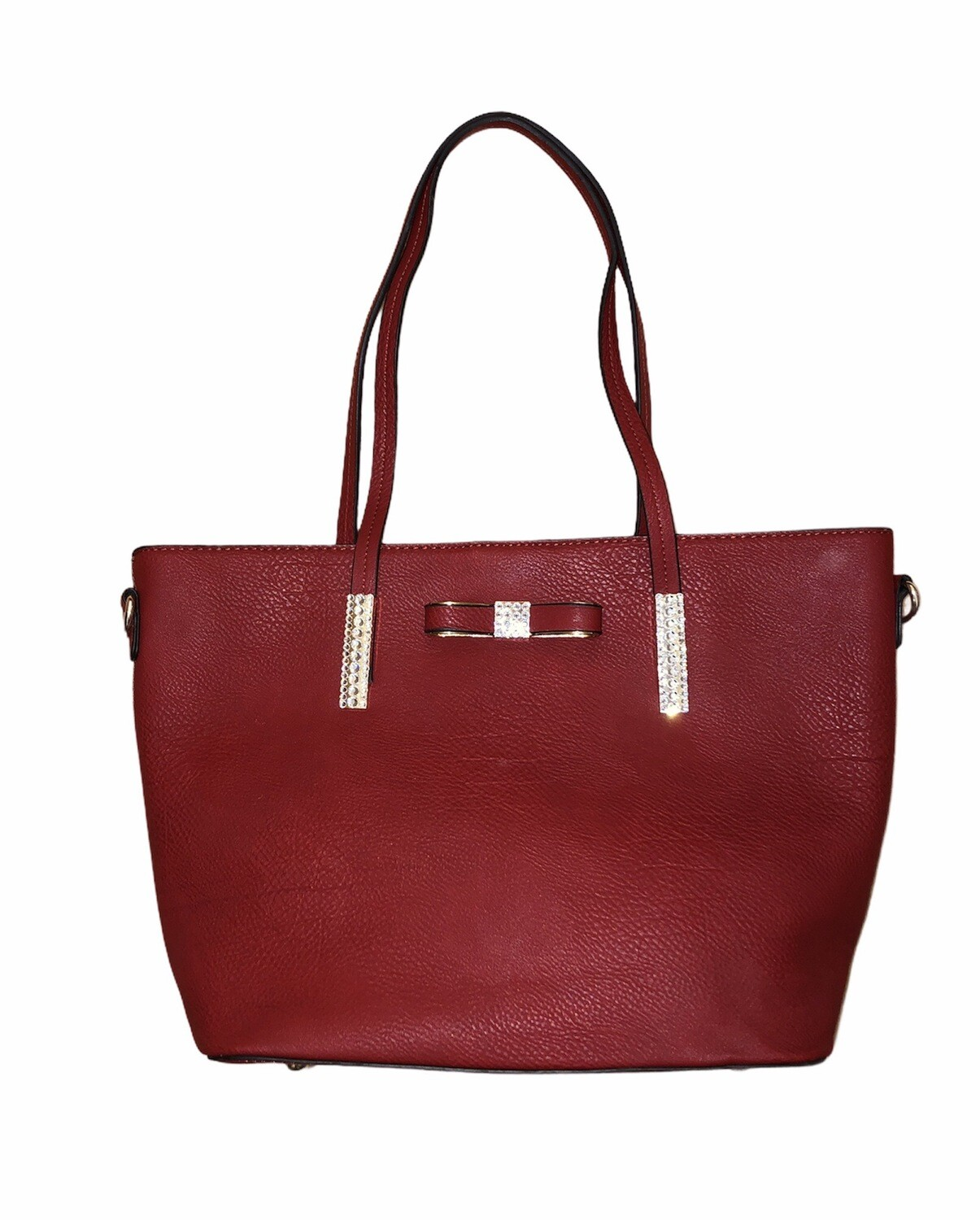 Crystal Bow Tote Bag Red