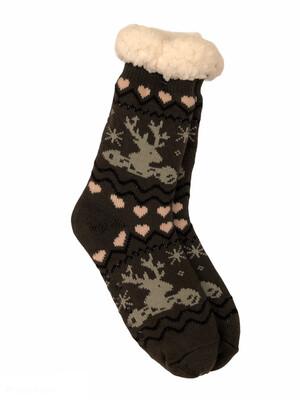 Cozy Thermal Slipper Socks Deer