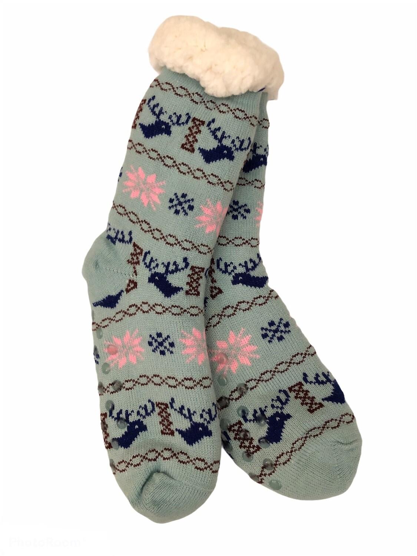Cozy Thermal Slipper Socks Mint