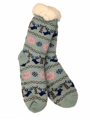 Cozy Thermal Slipper Socks Mint