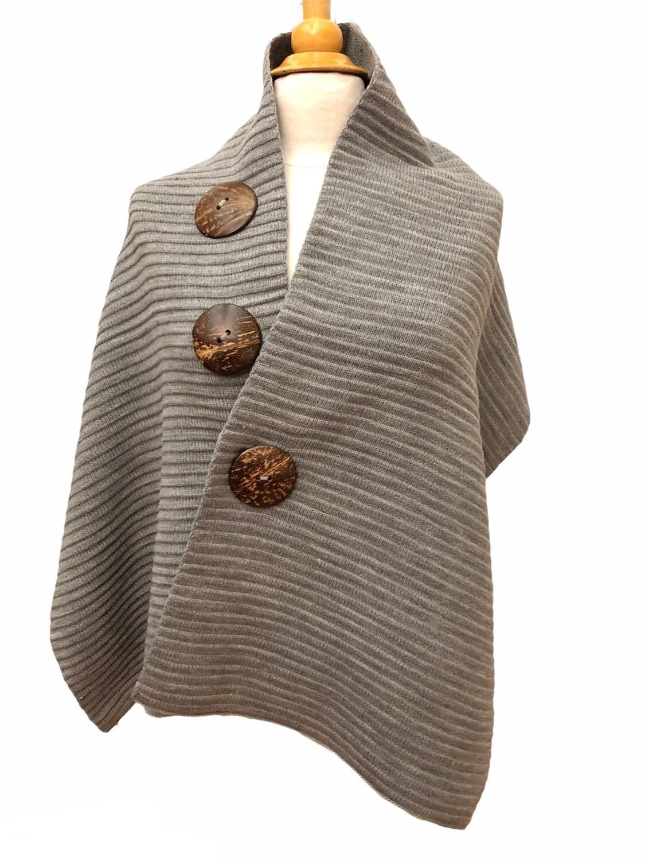 3 Button Wrap Gray