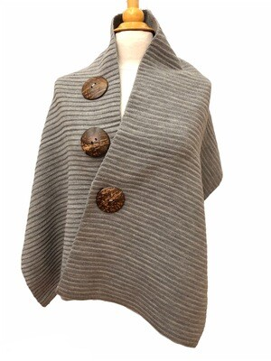 3 Button Wrap Gray