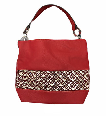 Crystal X & O's Handbag Red