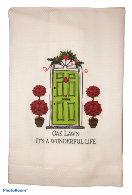 Oak Lawn Christmas Dish Towel