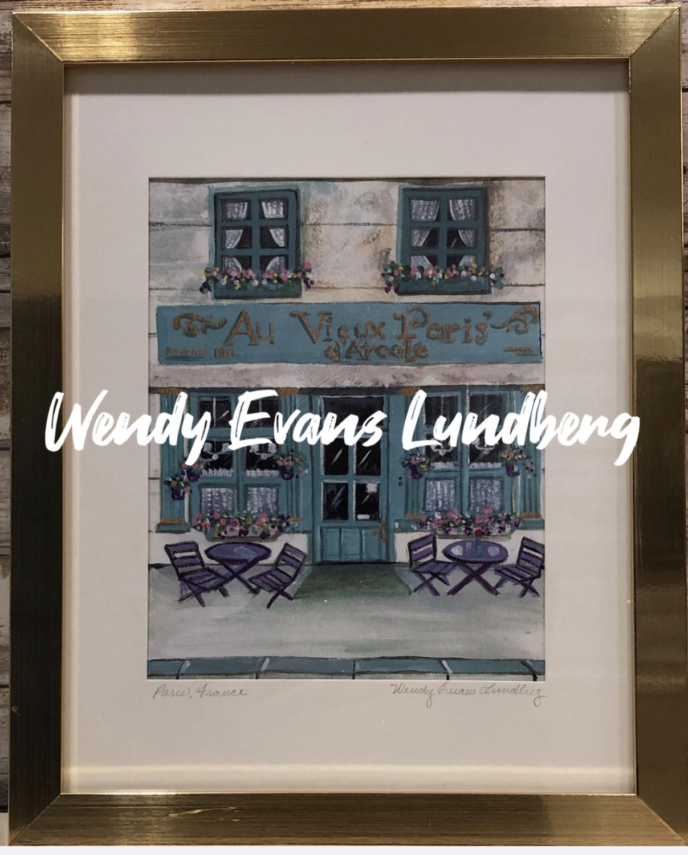 Au Vieux Paris d'Arcole Restaurant Framed Print