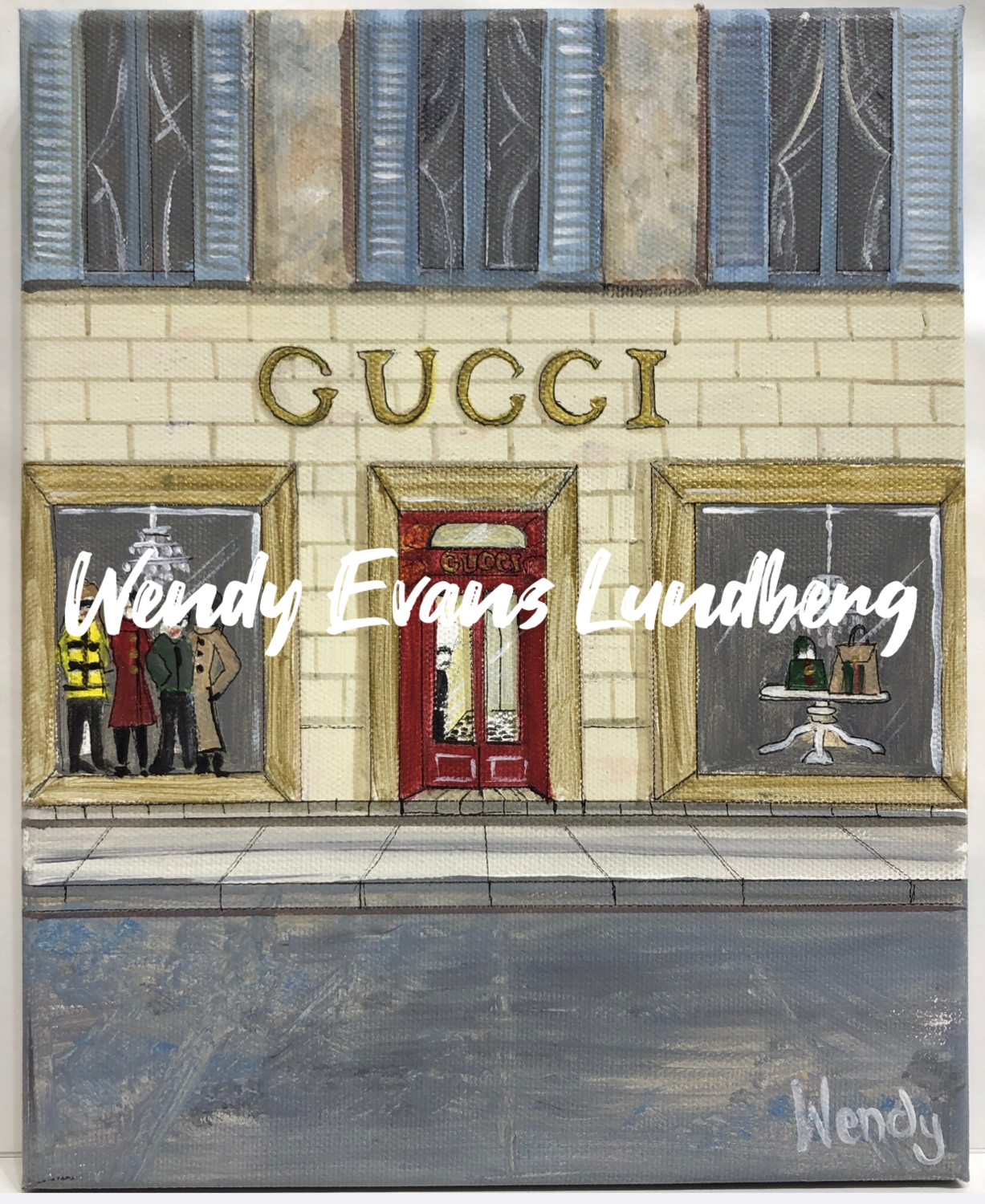 Gucci Roma Store Front Framed Print