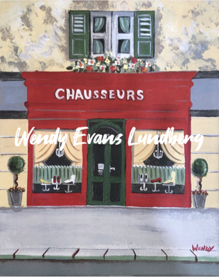 Chausseurs French Boutique Store Front Framed Print