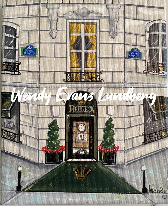 Boutique Rolex, 9 Place Vendome, Paris Print