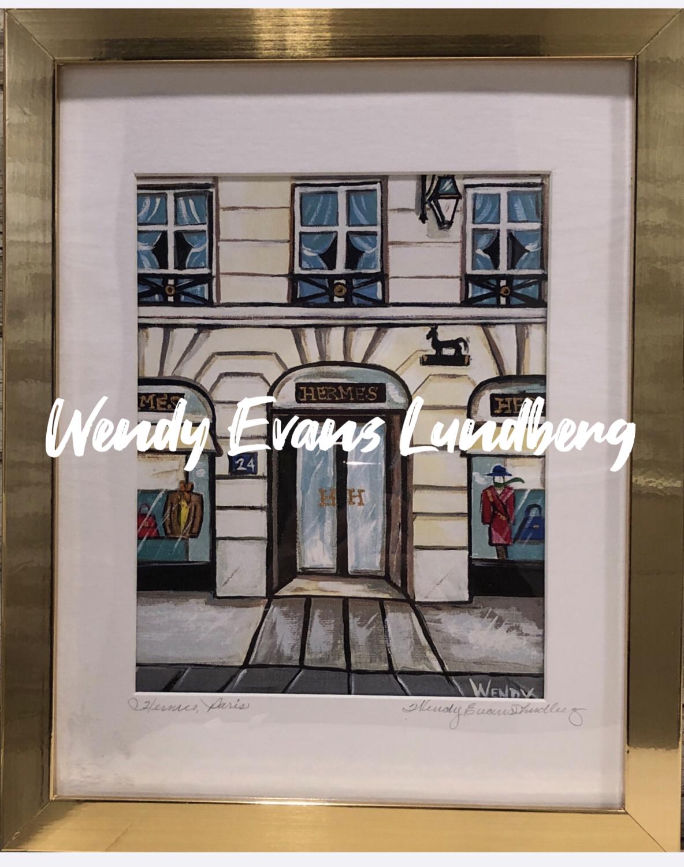Hermes Paris Store Front Framed Print